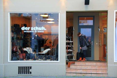 Außenansicht eines Schuhgeschäftes im Bremer Viertel