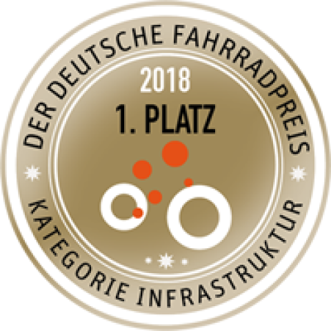 Badge 1. Platz Deutscher Fahrradpreises 2018