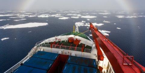Das Schiff POLARSTERN in der Arktis