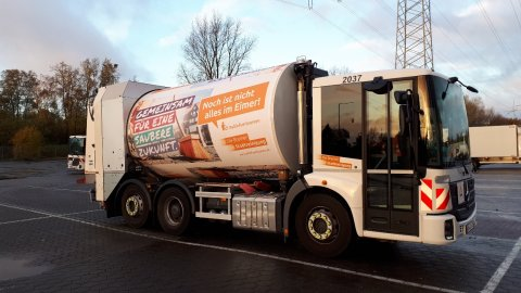 Ein Fahrzeug der Bremer Stadtreinigung