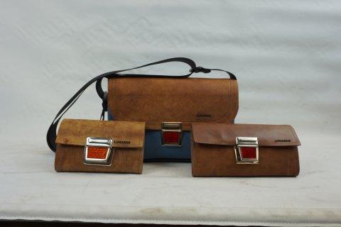 Taschen hergestellt aus Turngeräten.