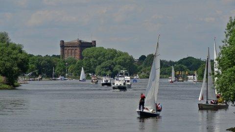 Wassersport auf der Weser