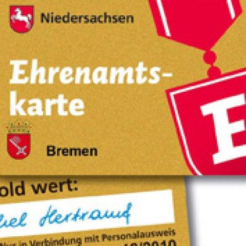 Ehrenamtskarte im Scheckkartenformat.