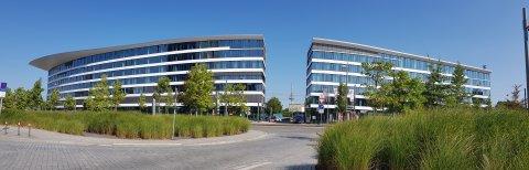 Das Panorama des Eins-Gebäudes im Weserquartier