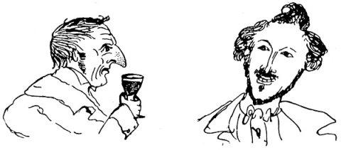 Eine Zeichnung von Friedrich Engels.
