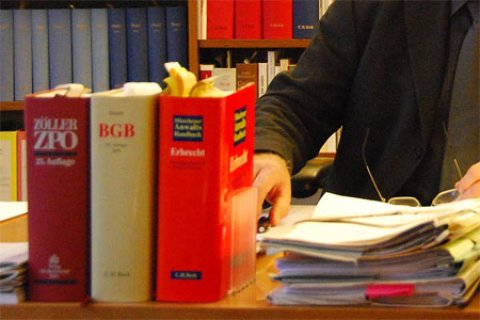 Buchrücken von Dicken Gesetzesbüchern