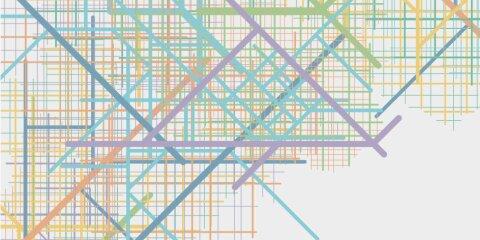 Das Bild zeigt ein abstraktes buntes Linenraster