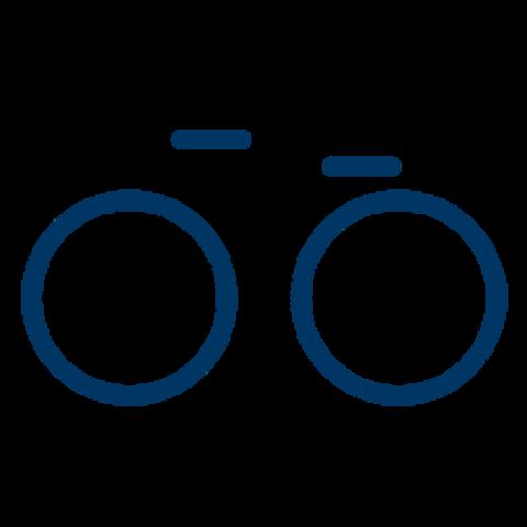 Blaues Fahrradicon des Fahrradmodellquartiers