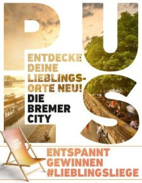 Ein Werbebanner für die Bremer Innenstadt