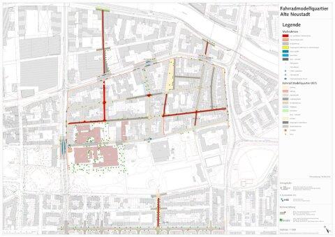FMQ Fahrrad Modell Quartier Maßnahmen Karte