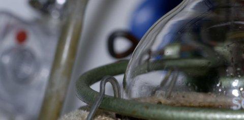 Ein Laborgegenstand aus Glas