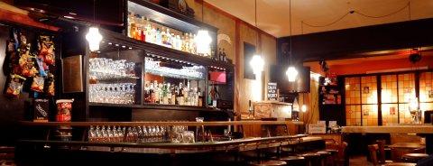 Ein Blick auf die Bar.