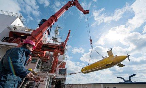 Spitzenforschung: Das autonome Unterwasserfahrzeug MARUM-SEAL.