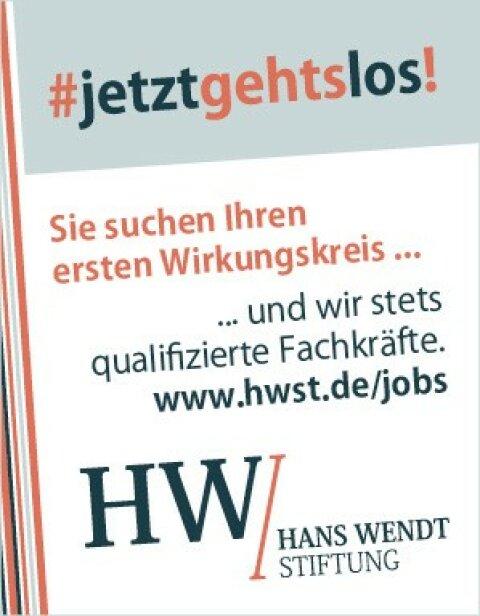 Hans Wendt Stiftung sucht Fachkräfte