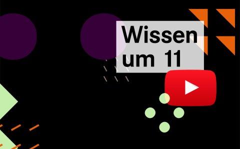 """Grafik mit dem Schriftzug """"Wissen um 11"""" und dem Youtube-Icon"""