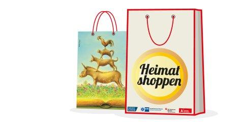 Logo mit der Aufschrift Heimat shoppen