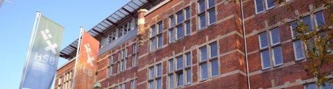 Außenansicht des Hauptgebäudes der Hochschule Bremen; Quelle: WFB/bremen.online/MDR