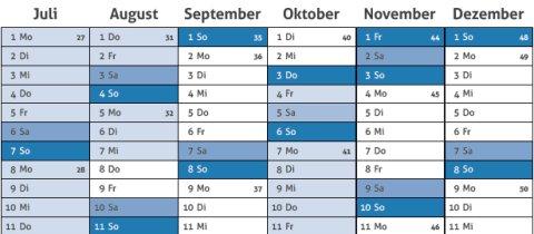 Kalenderansicht