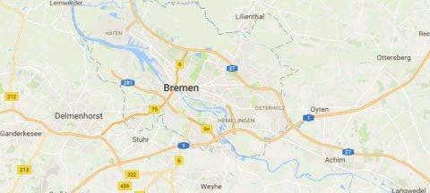 Kartenausschnitt zeigt Parkmöglichkeiten für Fahrräder und Autos in der Bremer Innenstadt