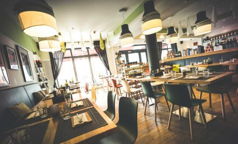 Blick in das Restaurant La Calma