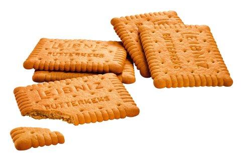 Leibniz Kekse vor weißem Hintergrund.