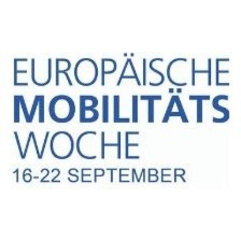 Blaues Logo der Europäischen Mobilitätswoche
