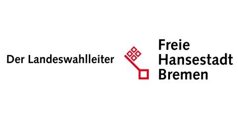 Ein roter Bremer Schlüssel auf weißer Schrift