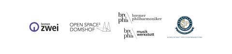 Logos der 5 Partnerinstitutionen und Firmen vom Themenjahr 2022 klangfrisch