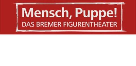 Logo mit Aufschrift: Mensch, Puppe! Das Bremer Figurentheater