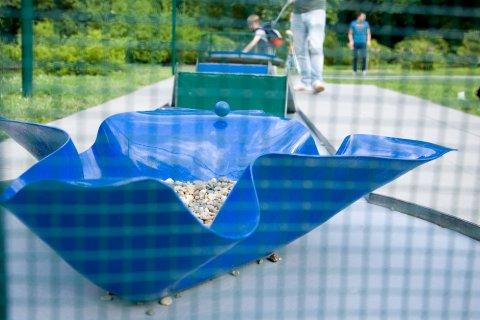 Die Minigolfanlage im Bürgerpark.