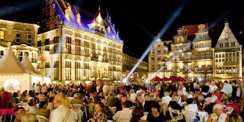 Eröffnung des Musikfestes auf dem Bremer Marktplatz