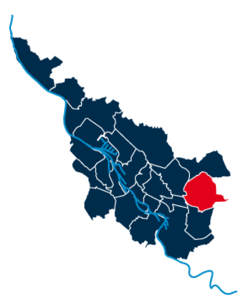 Umriss vom Stadtteil Oberneuland