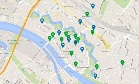 Google Karte zum Thema Parken