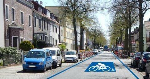 Premiumrouten Radverkehr Machbarkeitsstudie SKUMS 2017 - Standardgestaltung Fahrradstrasse