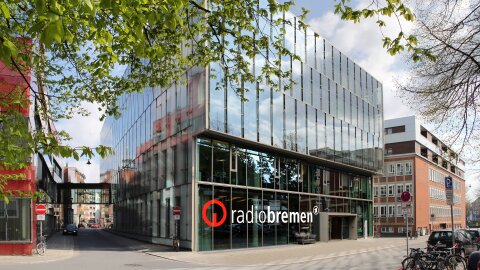 Zu sehen ist das Gebäude von Radio Bremen.