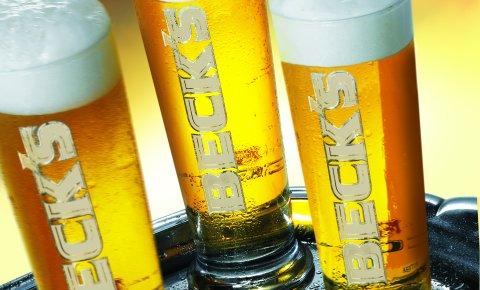 Drei mit Bier gefüllte Gläser