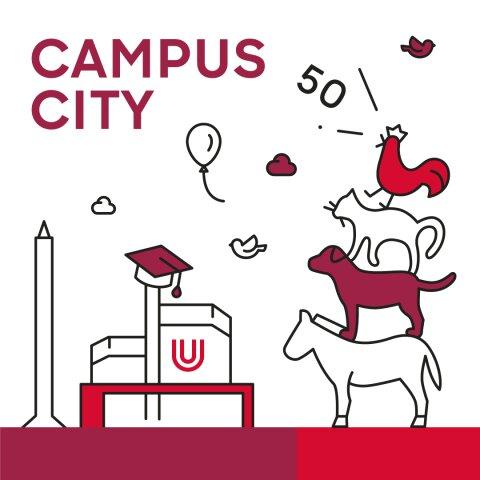 Zu sehen ist das Logo von Campus-City der Universität Bremen.