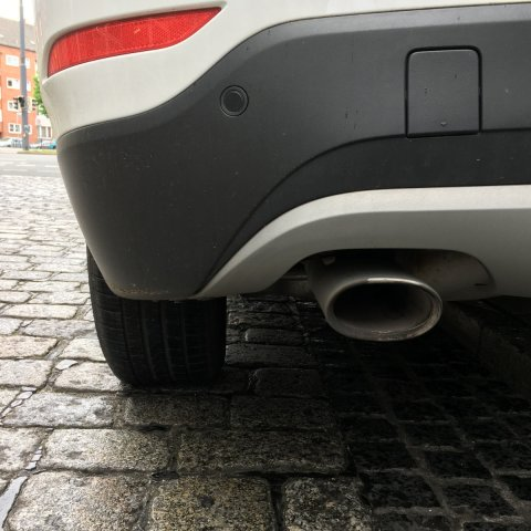 Auspuff eines Fahrzeugs