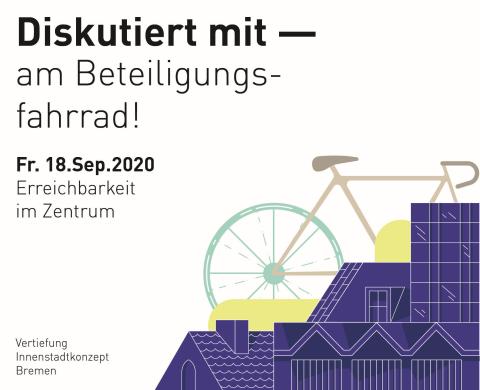 Ein Fahrrad auf einer Einladung