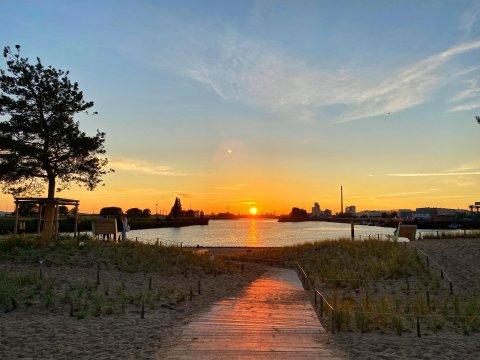 Sonnenuntergang am Waller Sand