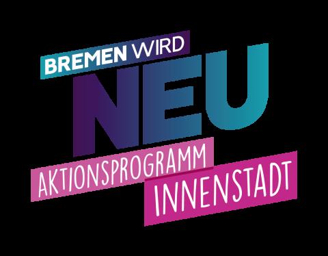 Logo Schriftzug Bremen wird neu in türkis und pink