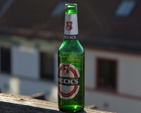 Flasche Becks von der Brauerei Beck & Co