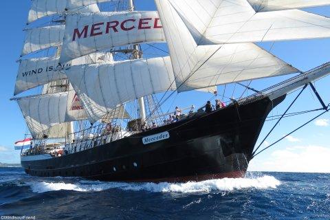 Segelschiff Mercedes auf der Nordsee