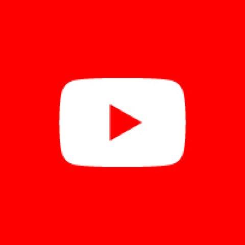 Bild zeigt das rot-weiße Logo von Youtube