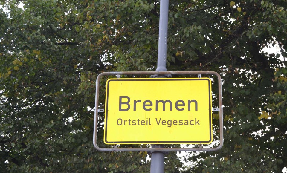 Ortsschild Vegesack