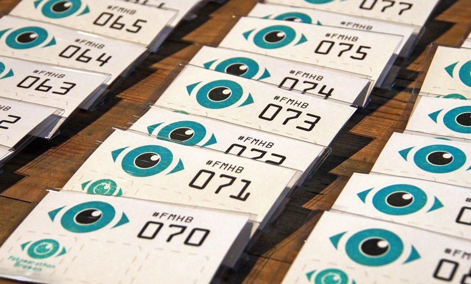 Die Startnummern für den Fotomarathon Bremen