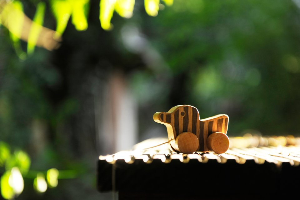 Die kleine Tigerente aus Holz auf Rädern (Foto: Marianne Menke)