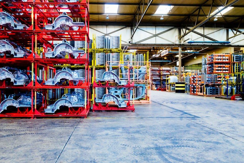 Produktionshalle der BLG LOGISTICS im Güterverkehrszentrum Bremen (Quelle: WFB/Jonas Ginter)