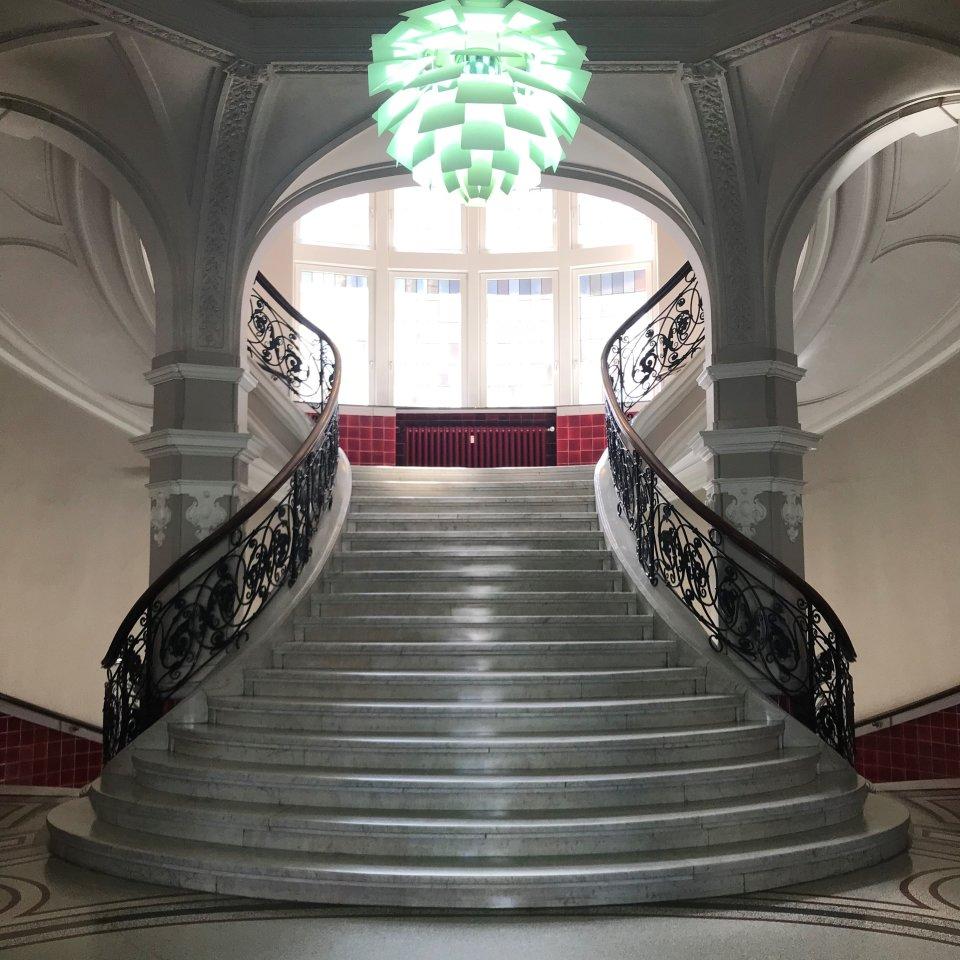Treppe in der Baumwollbörse
