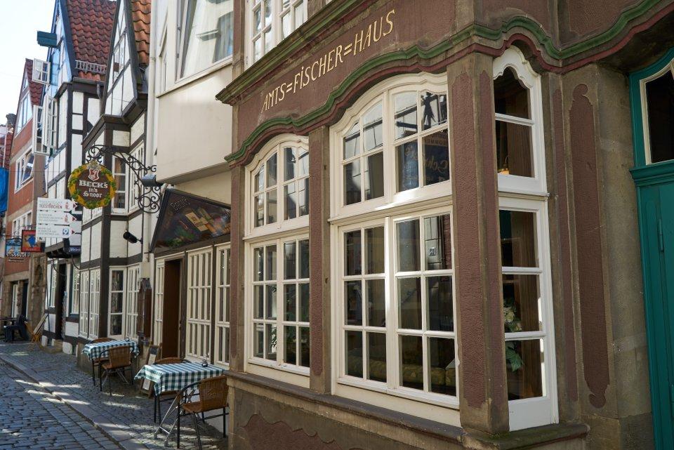 Das Restaurant Becks im Schnoor von außen.